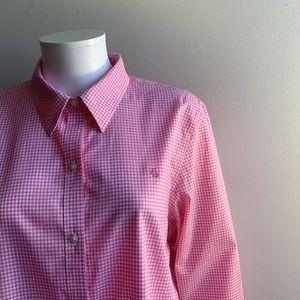 Pink Lauren Ralph Lauren Button Down Shirt XL